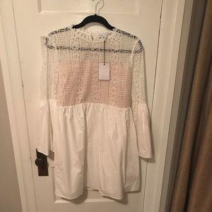 Never worn Endless Rose white backless dress